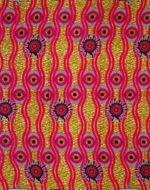 156 Afrikaanse stof | African Wax Print 100% cotton  | prijs / yard