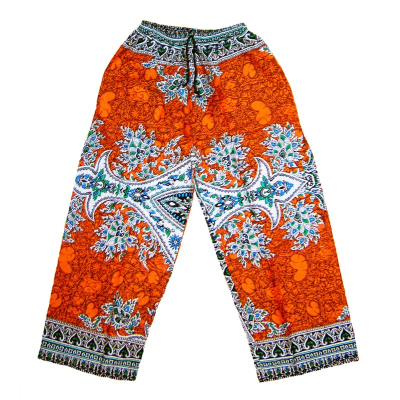 DASHIKI BROEK etnische print ORANGE | unisex zomer party festival pants in 3 maten