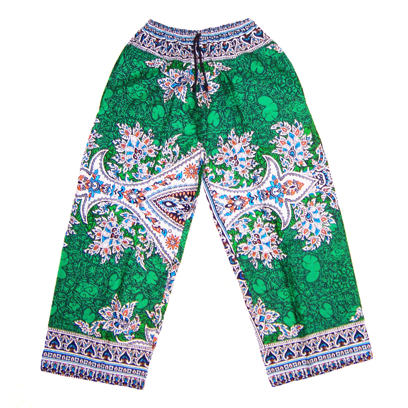 DASHIKI BROEK etnische print EMERALD | unisex zomer party festival pants in 3 maten