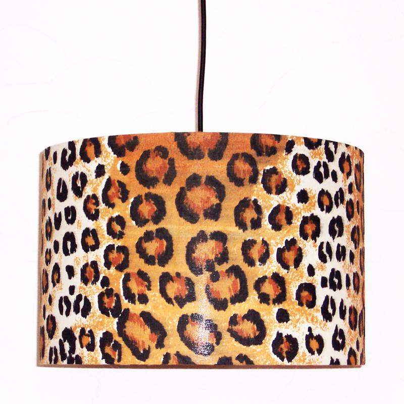 LEOPARD lampenkap doorsnee 35 cm afrikaanse animal print