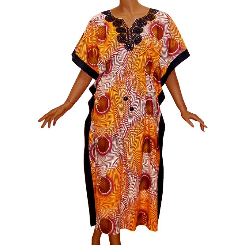 KAFTANJURK SUNSHINE | afrikaanse wax print | 100% katoen | ONE SIZE past maat M-XXXL