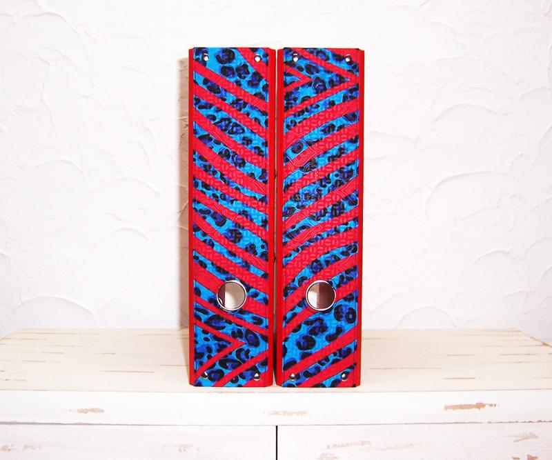 Ordners ROOD met rug van afrikaanse wax print | 8 cm breed | set van 2