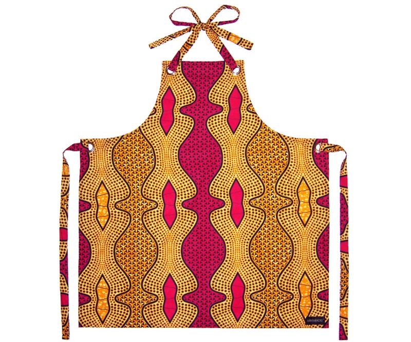 Afrikaanse keukenschort LULU | unisex | 100% katoen african wax print