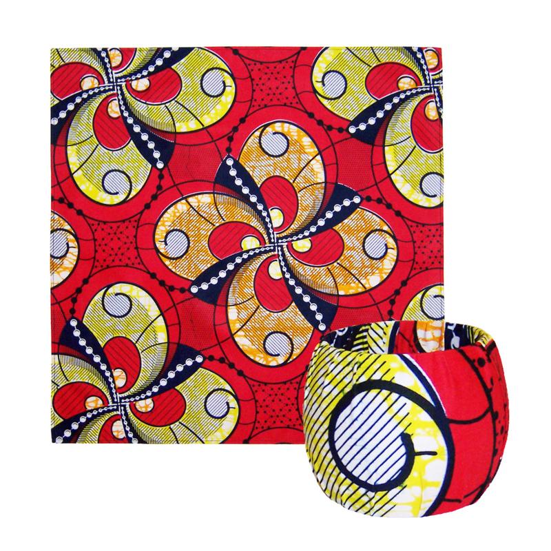 BANDANA + BANGLE set | Red Passion | hoofddoek/zakdoek en armband