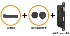 CANDO DALFSEN INDUSTRIAL DEURBESLAG BESLAGPAKKET INCL. TOILETGARNITUUR EN TOILETSLOT ( CANHP303 )
