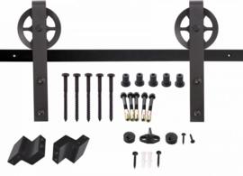 Intersteel Schuifdeursysteem Wheel mat zwart