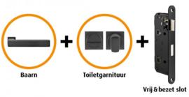 CANDO BAARN INDUSTRIAL DEURBESLAG BESLAGPAKKET INCL. TOILETGARNITUUR EN TOILETSLOT ( CANHP301 )