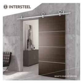 INTERSTEEL Schuifdeursysteem Modern Top roestvast staal