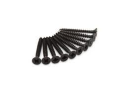 Scharnier Schroeven RVS zwart 4,5x40 Pozy drive 10 stuks