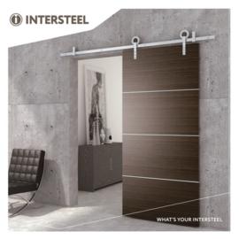 INTERSTEEL Schuifdeursysteem Modern roestvast staal