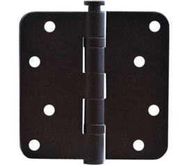 Kogellagerscharnier mat zwart 89 x 89