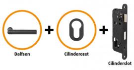 CANDO DALFSEN INDUSTRIAL DEURBESLAG BESLAGPAKKET INCL. CILINDERROZET EN CILINDERSLOT ( CANHP203 )