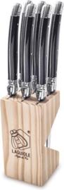 Laguiole Style de Vie Steakmessen Premium Line - 6-delig - Zwart