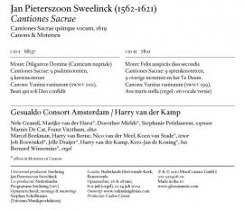 HSM III: Cantiones Sacrae  (boek & 2 cd's)