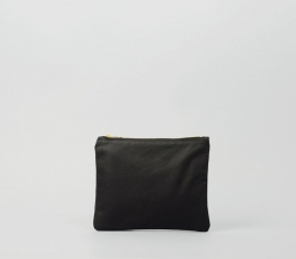 BLACK LEATHER PURSE SMALL
