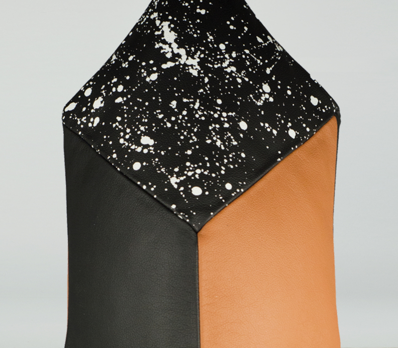 SMALL WHITE, BROWN AND BLACK PINATA