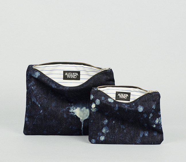 GALAXY DENIM PURSE MEDIUM