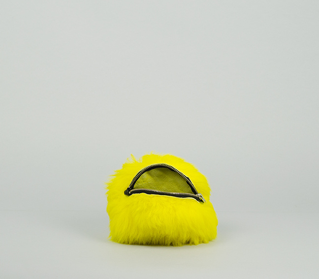 YELLOW FLUFFY SMALL PURSE (LIMITED EDITION)
