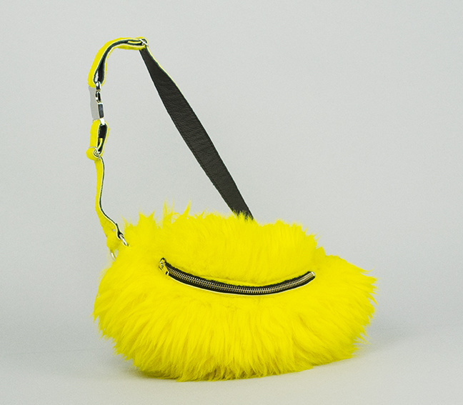 YELLOW FLUFFY FANNY PACK (LIMITED EDITION)