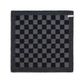 Keukendoek Grote Blok 2 Kleuren Zwart/Med Grey