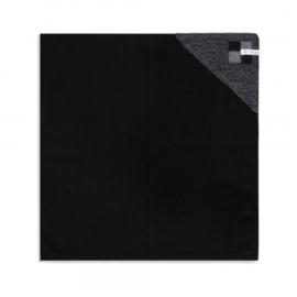 Theedoek Grote Blok 2 Kleuren Zwart/Med Grey