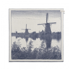 Knit Factory Molens Keukendoek Ecru/Jeans