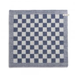 Knit Factory Keukendoek Grote Blok 2 Kleuren Ecru/Jeans