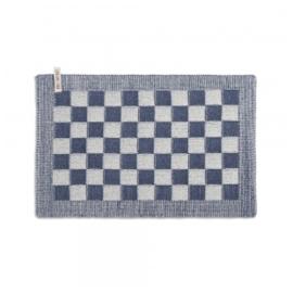 Knit Factory Placemat Grote Blok 2 Kleuren Ecru/Jeans