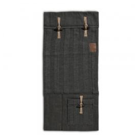 Knit Factory 6x6 Rib Pocket Antraciet