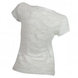 T-shirt met kant /WIT