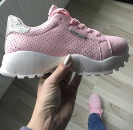 Sneaker licht roze