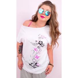 T-shirt met bloem