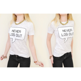 T-shirt / never log out