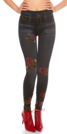 Thermo legging donkerblauw
