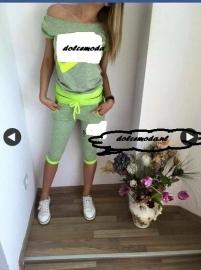 Tweedelig pak neon groen/geel