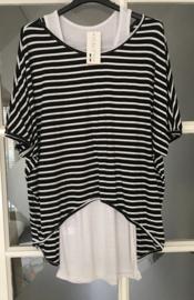 T-shirt met streep
