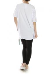 T-shirt met gezicht /Wit