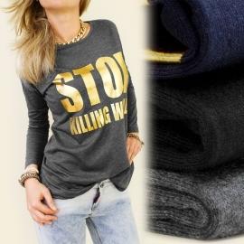 T-shirt lange mouw Stop