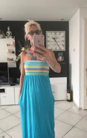 Strapless zomer jurk/lichtblauw