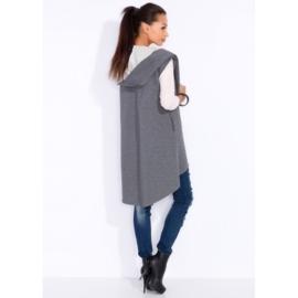 Oversized gilet sweaterstof