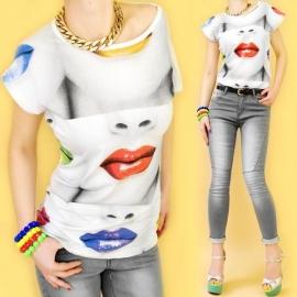T-shirt met lippen