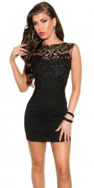 jurk met kortemouw