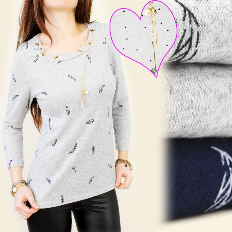 Shirt met hangertje/veren