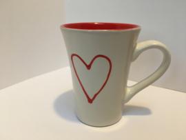 Kleine mok Valentine rood