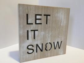 """Led-light bord met tekst """"let it snow"""""""