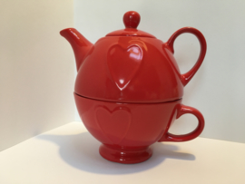Tea for one Valentine red