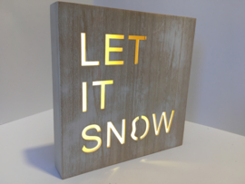 "Led-light bord met tekst ""let it snow"""