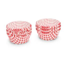 Muffin Vormpjes 5cm R/W Vierkantjes