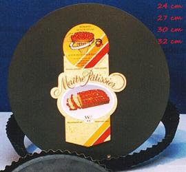 Vlaaipan gekarteld met losse bodem 24cm
