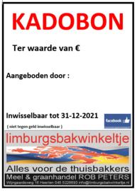 Kadobon  €10,-